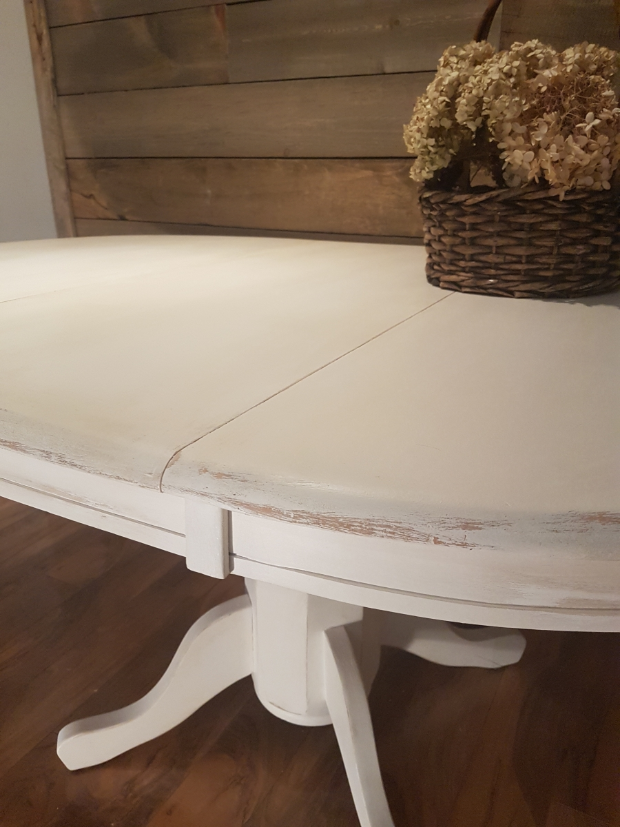 Table ronde ou ovale style shabby chic rustique for Table basse ronde ou ovale