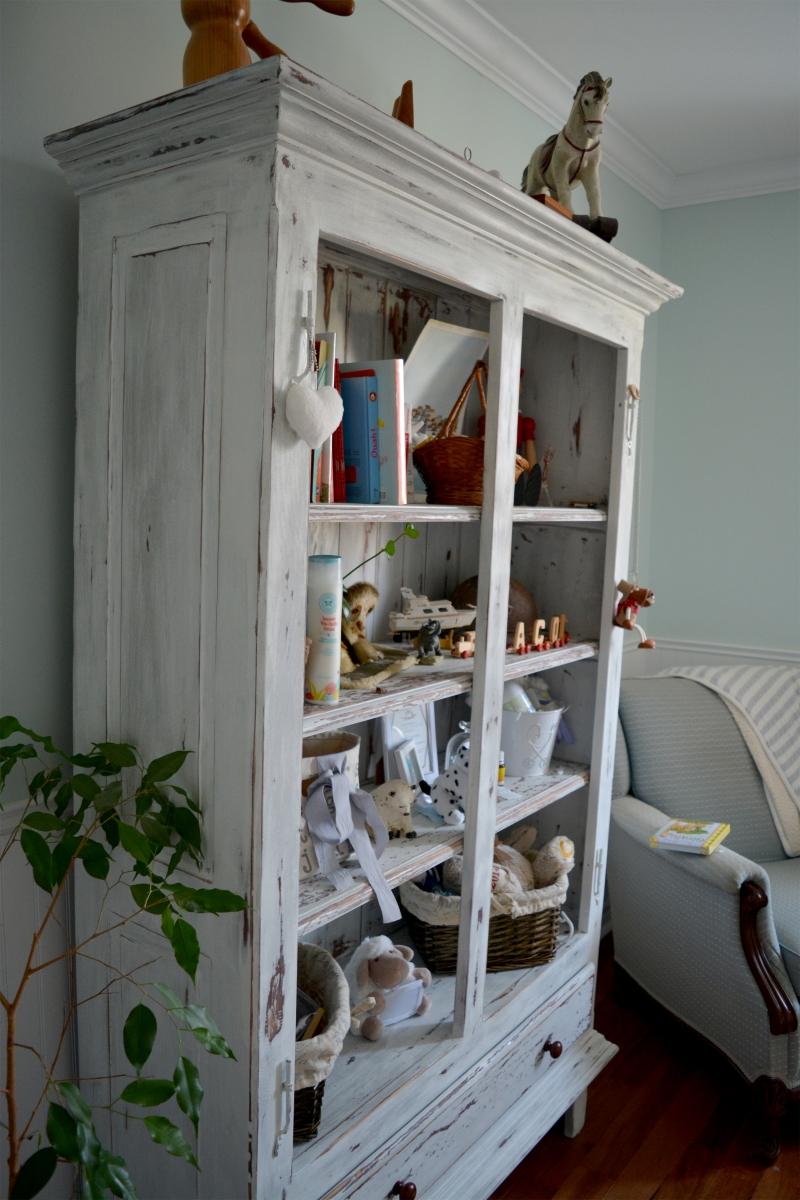 Armoire étagère, bibliothèque shabby chic2