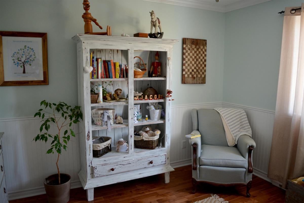 Armoire étagère, bibliothèque shabby chic5