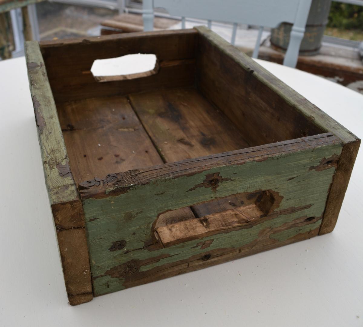 Boite en bois recyclé rustique chic2