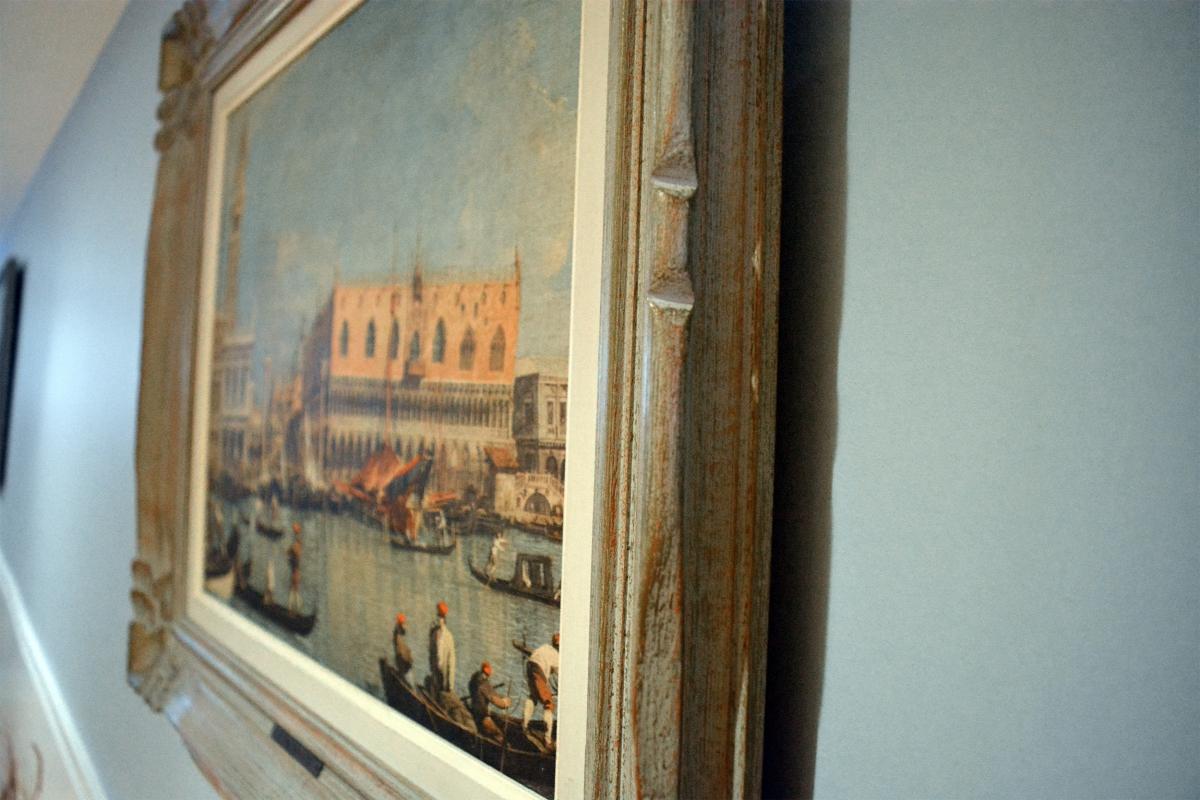 Cadre avec peinture de gondoles4