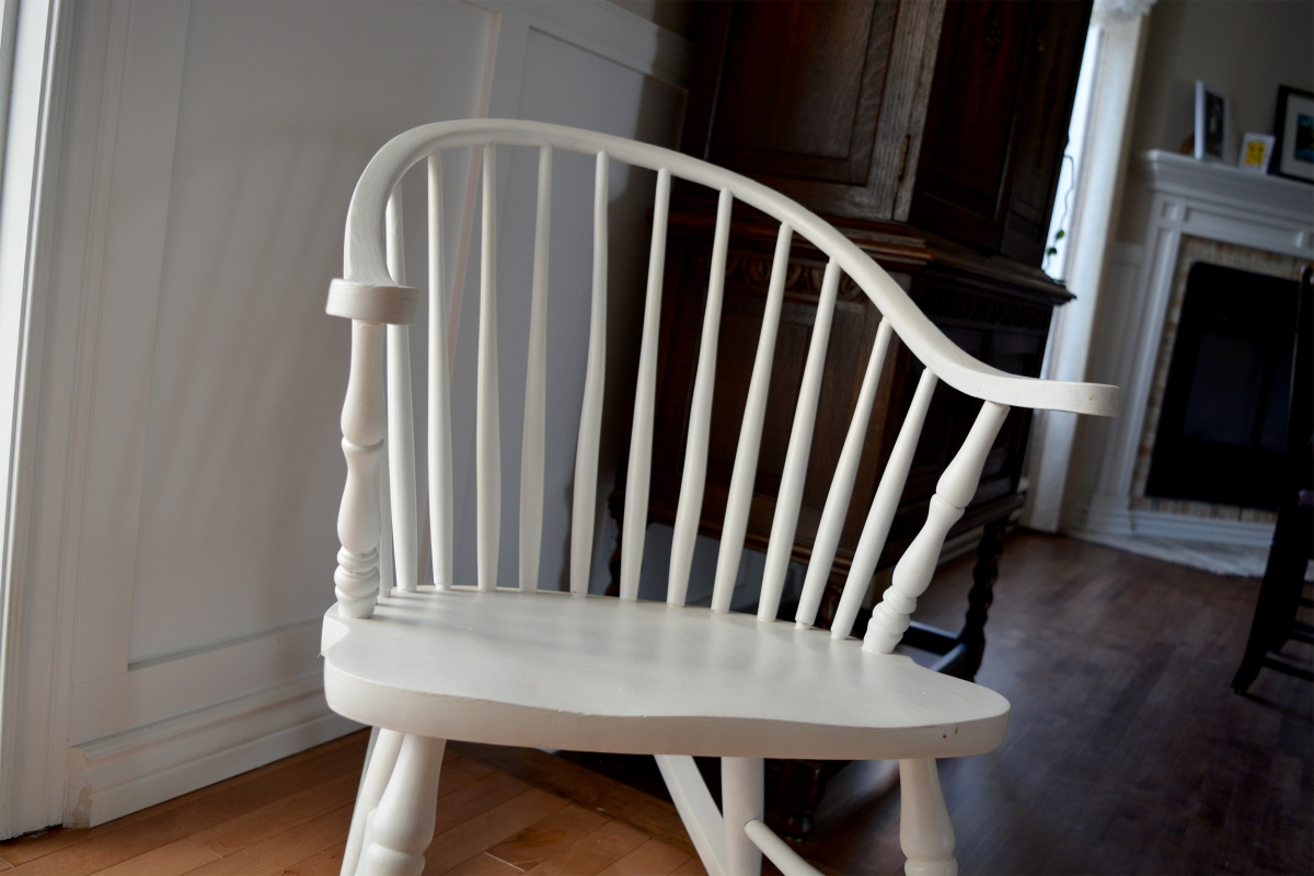 Windsor rocking chair white for Liquidation chaise bercante