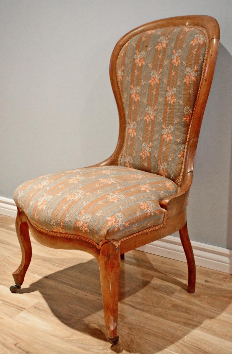 chaise victorienne antique superbe patine. Black Bedroom Furniture Sets. Home Design Ideas