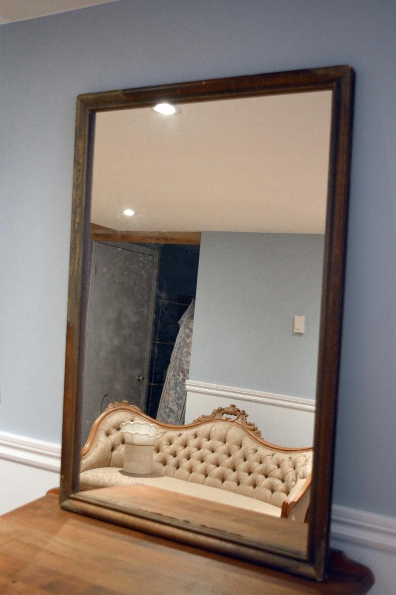 Miroir à cadre antique rustique2