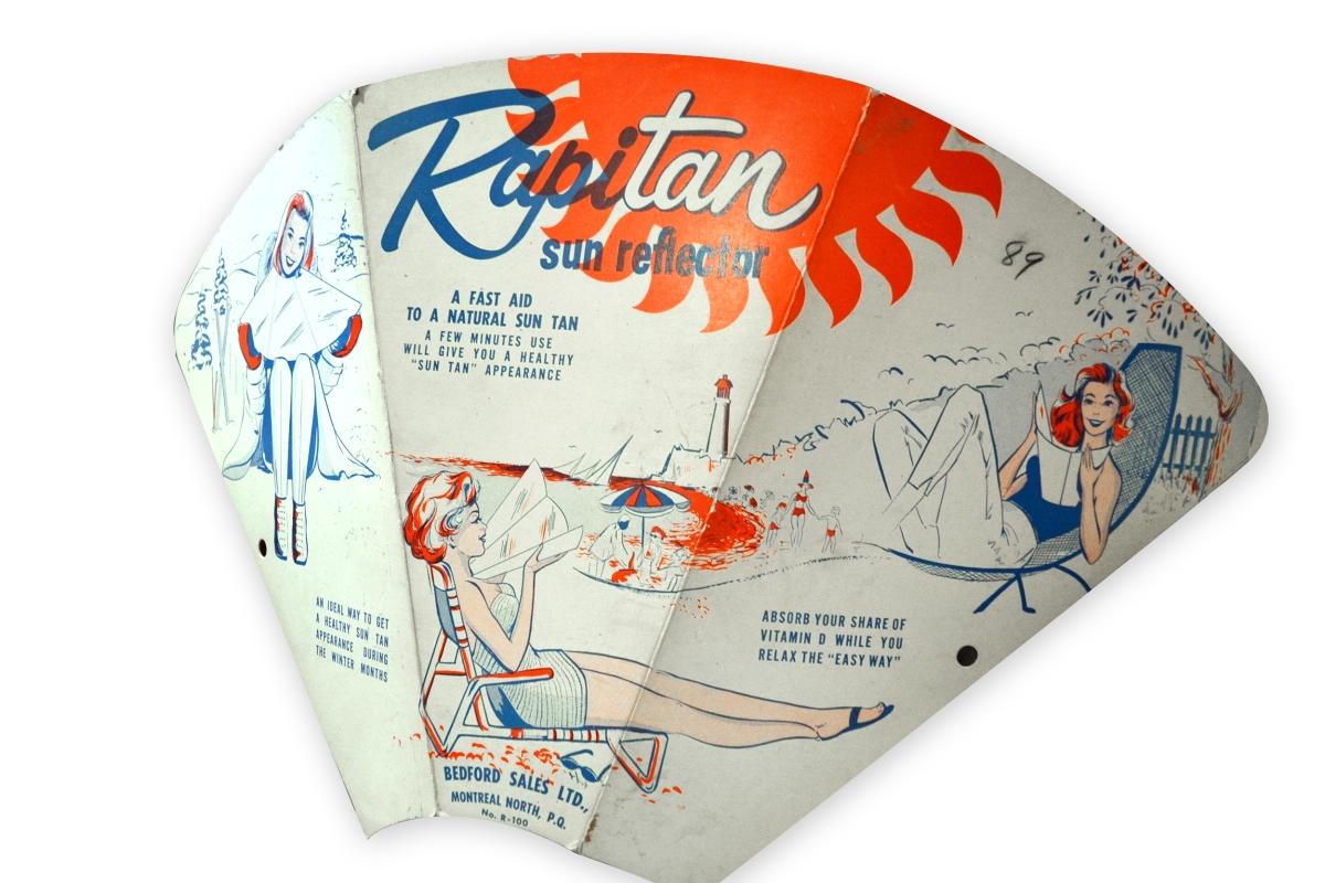 Réflecteur solaire Rapitan, 1950 pub vintage