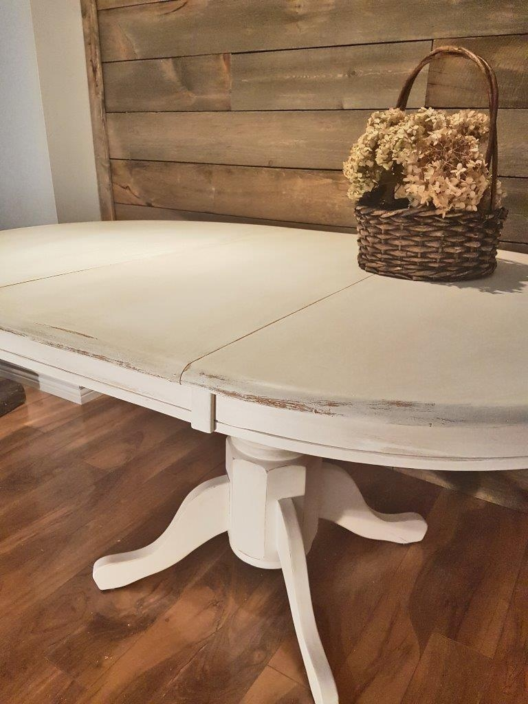 Table ronde ou ovale style shabby chic rustique for Table de salon ronde ou ovale