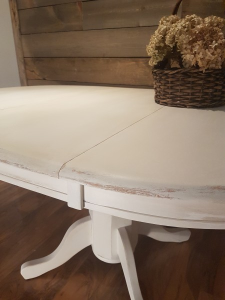 Table ronde ou ovale style shabby chic rustique3