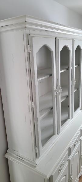 Vaisselier buffet blanc shabby chic avec ou sans portes