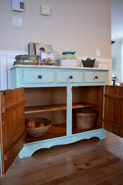 Buffet turquoise et beige style shabby rustique chic6