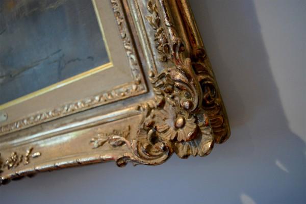 Cadre antique ornement feuille d'or4