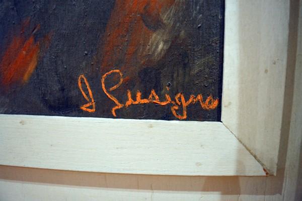 Tableau de piranha orange et cadre blanc3
