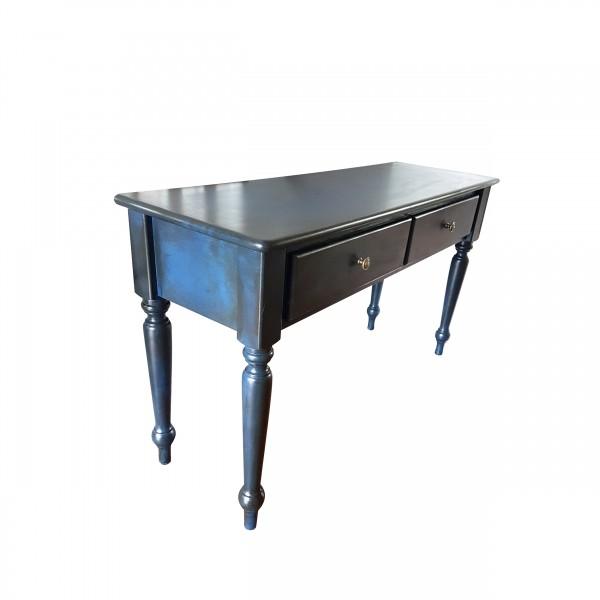 Table crédence bleu royal vieilli