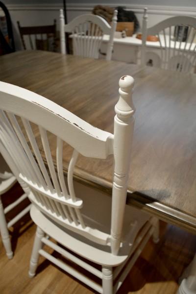 Table crème, blanc cassé dessus bois shabby rustique chic4