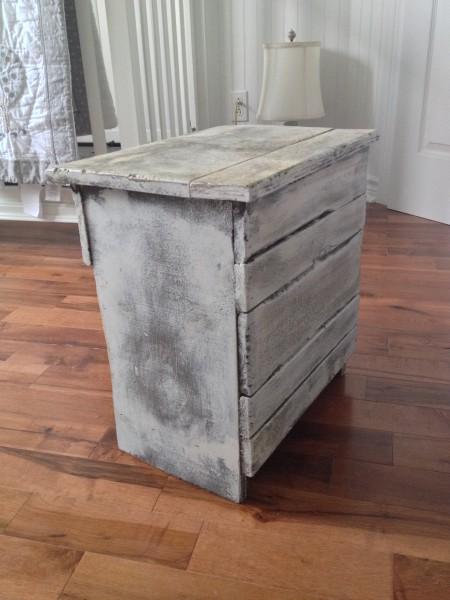 table de chevet meuble shabby chic. Black Bedroom Furniture Sets. Home Design Ideas