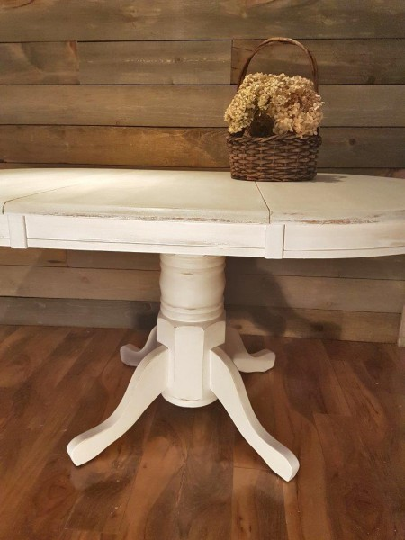 Table ronde ou ovale style shabby chic rustique2