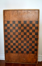 Damier antique bois à carreaux noir