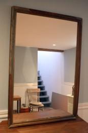 Miroir à cadre antique rustique