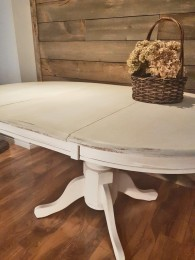 Table ronde ou ovale style shabby chic rustique